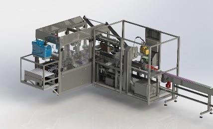 Levering wraparound casepacker met robot invoersysteem
